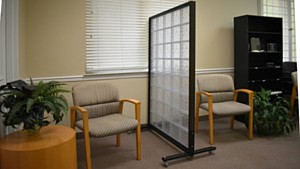 Hy-Lite Acrylic Block Rolling Privacy Panels Used at Tribal Health Department in Montana