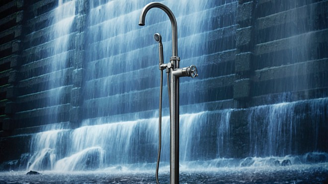 California Faucets New High Flow Rate Single Handle Tub Fillers Stylishly Fill the Tub in Half the Time