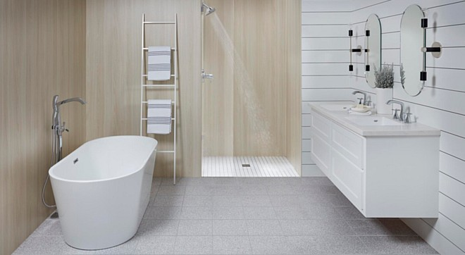 The Ultimate Water-Proof Surface by Wetwall (A Wilsonart Company)