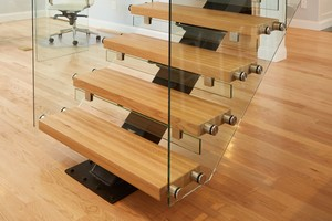Viewrail FLIGHT Floating Stairs Create Airy Open Space
